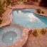 Backyard Swimming Pool and Spa, Firepit And Custom BBQ