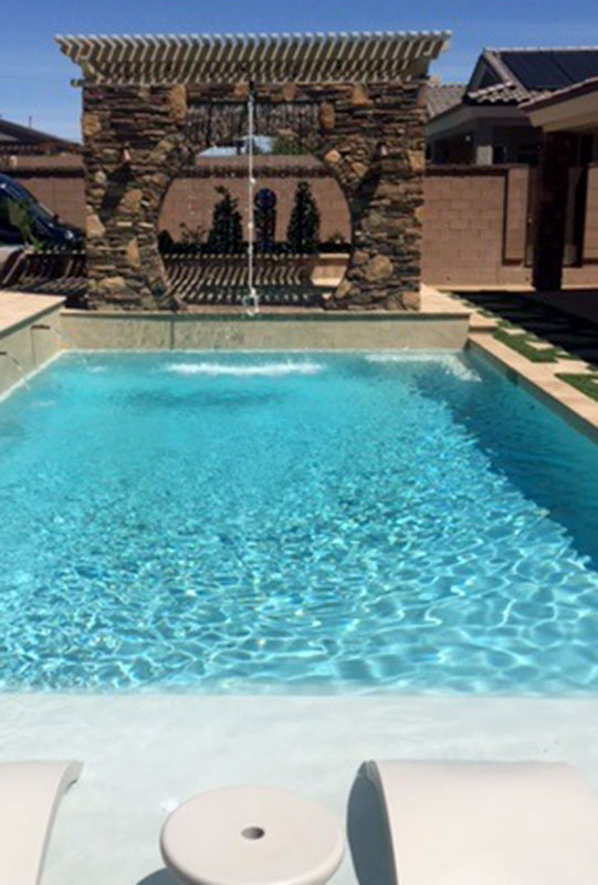 Swing Rope From Pergola Covered Spa Area Into Swimming Pool ...